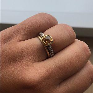 Citrine David Yurman stacking Ring size 7.5